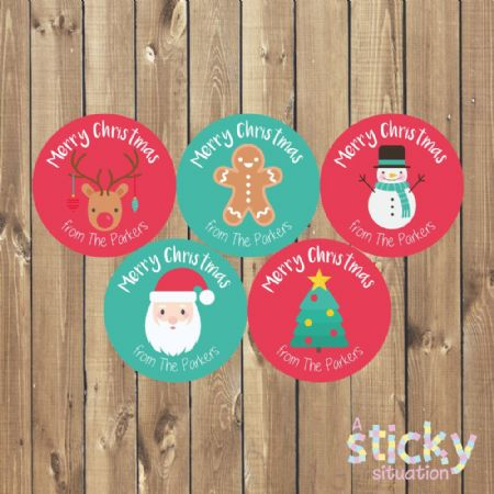 Personalised Christmas Gift Labels - Mixed Cute Designs